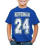 style3 Heffernan 24 T-Shirt für Kinder Doug Queens Sitcom, Farbe:Blau;Größe:2XL