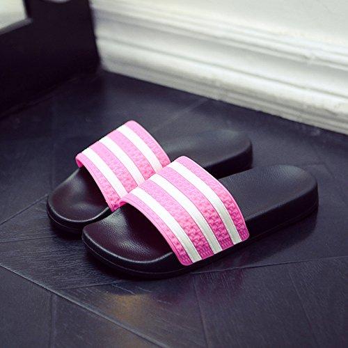 DogHaccd pantofole,Cool pantofole estate femmina bagno interno anti-slittamento soggiorno di casa con un paio di moda, indossando un fresco stile spiaggia e maschio Il rosso1