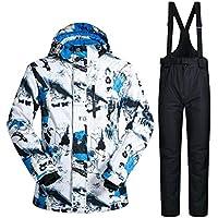 XL68 Traje de esquí para Hombre Invierno Prueba de Invierno al Aire Libre para Hombre térmica Pantalones de Snowboard Esquí y Snowboard Chaqueta de esquí para Hombre
