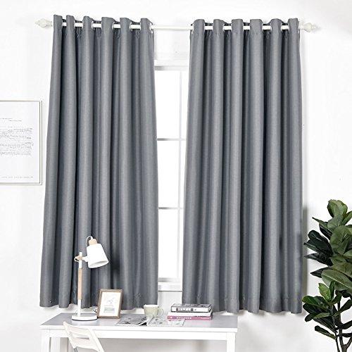 DULPLAY Sheer Blackout vorhänge,Fenster Vorhang, Satz 1 paneele Blackout-tülle Natürliches gefühl Für Schlafzimmer & Wohnzimmer -A W160xL200cm(W63xL79inch)