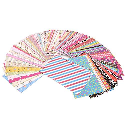 Preisvergleich Produktbild Unbekannt Zink Bunte,  witzige und dekorative Fotorandsticker für 2x4 Fotopapier - 100 Stück Packung