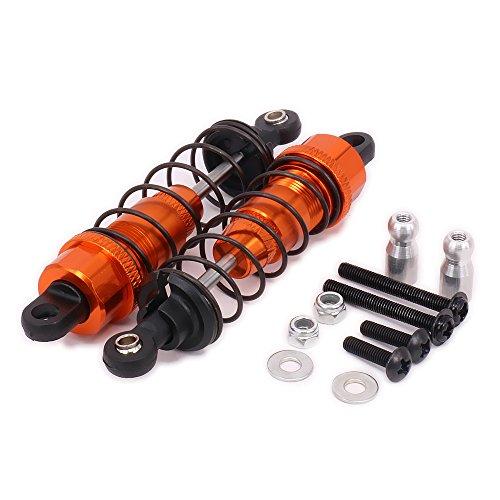 RCAWD Stoßdämpfer Dämpfer 101212 107888 WR80006 Aluminiumlegierung für Rc Hobby Car 1/10 HPI WR8 Serie Flux 2Pcs(Orange)
