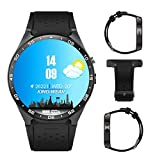 Kingwear KW88 3G intelligente Uhr, Handy All-in-One Bluetooth Smart Uhr Android 5.1 IOS, Vier Kern 2.0MP Kamera Bluetooth SIM Karte WiFi GPS Herzfrequenz-Monitor