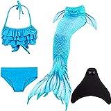 SPEEDEVE Niñas Disfraz de Sirena con Aleta para Nadar,DH06+WJF46,150cm