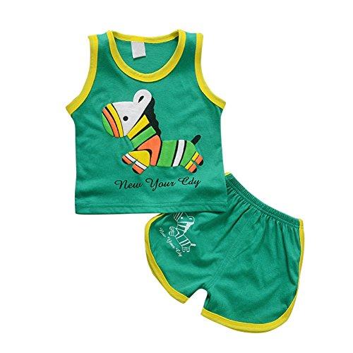 nd Baby Sommer Kleidung Set Cartoon Pferd gedruckt süße Weste Top und Shorts für 0-3 Jahre alt junge Mädchen (Kleinkind-halloween-kostüm Pferd)