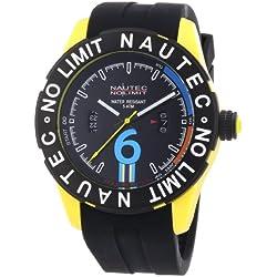 Nautec No Limit Men's Quartz Watch Zero-Yon 2 ZY2-B QZ/RBPCBKBK-YL with Rubber Strap