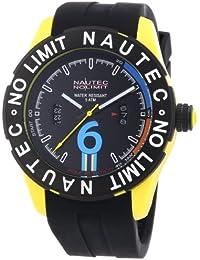 Nautec No Limit Herren-Armbanduhr XL Zero-Yon 2 Analog Quarz Kautschuk ZY2-B QZ/RBPCBKBK-YL