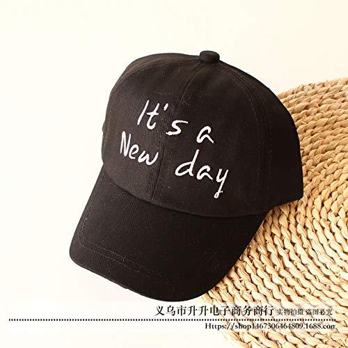Baby Kostüm Riddler - mlpnko Neue Süßigkeit-Farben-Baby-Hut-Stickerei 1-3 Jahre alte Jungen-Sonnenhut-Kind-Kappen-Schwarzes 50CM