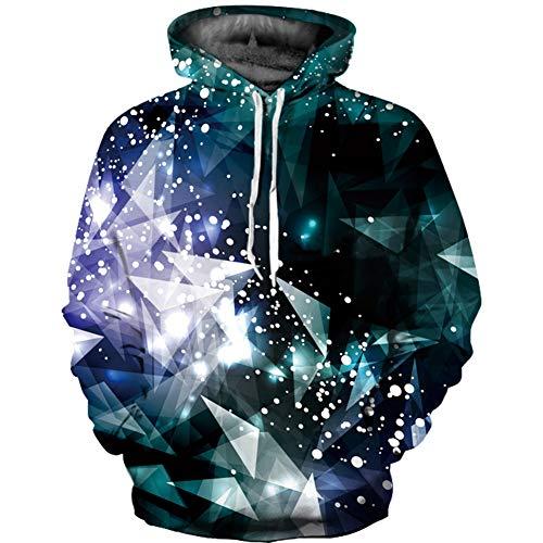 QWE Kapuzen-Sweatshirt, 3D-Bedruckt, mit Kapuze, langärmelig, langärmelig, Unisex-Kleidung, langärmlig Large/X-Large 3