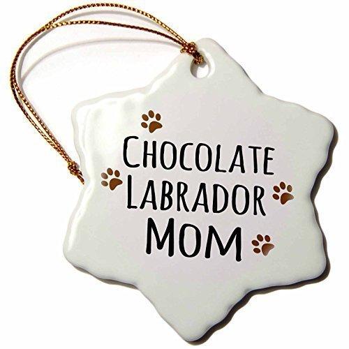 Christmas Gifts Schokolade Labrador Hund Mom Hund von Rasse Muddy Paw Prints Doggy Lover Pet Inhaber Weihnachts Porzellan Decor Schneeflocke Ornament Home Dekorationen Aufhängen Crafts