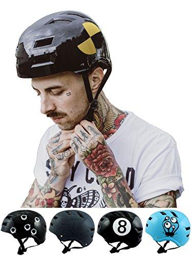 Skullcap BMX Helm Skaterhelm Fahrradhelm Herren | Damen | Jungs & Kinderhelm- Gr. S (49 – 54 cm), Crash-Test NextLevel