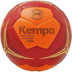 Kempa Spectrum Synergy Primo Balle Handball Mixte Adulte, Fluo Orange/Deep Rouge, 3