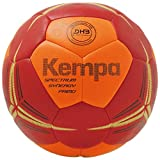 Kempa Spectrum Synergy Primo Balle Handball Mixte Adulte, Fluo Orange/Deep Rouge, 3