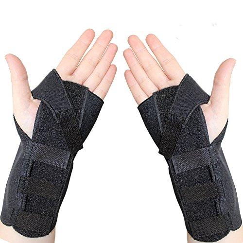 Paar Handgelenkstütze von COMPRESSX – Handgelenkbandage mit unterstützender für Karpaltunnel syndrom - Handgelenk Sehnenentzündung verstauchungen und Arthritis - handgelenkstütze schiene - Handgelenkschoner - Handbandage (Bowling Handschuh-handgelenk-unterstützung)