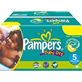 164 Couches Pampers Baby Dry Taille 5 Junior (11-25-kg)