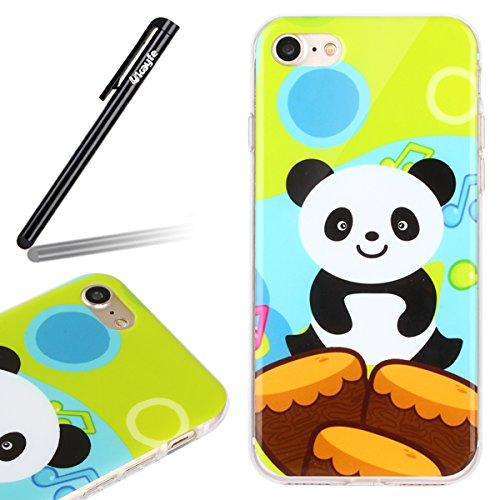 Ukayfe 2 in 1 Custodia per iPhone 6/6S plus 5.5 In TPU silicone e plastica Stilosa Fresco Copertura custodia cassa case protettiva cover bumper per iPhone 6/6S plus 5.5 ,Moda Serie Pattern Back Cover  Ta Panda