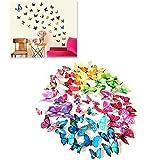 Kit 12 farfalle BLU 3D adesivi per pareti vari colori decorazione casa stickers murali. MWS