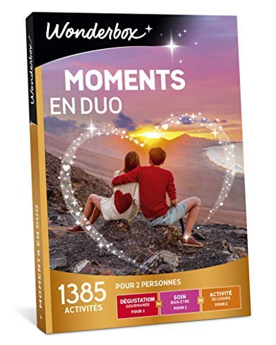 Wonderbox - Coffret cadeau couple - MOMENTS EN DUO – 1385...