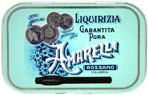 Amarelli Medaglie Pure Liquorice Medal Tin 40 g (Pack of 3)