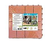 UPP Gartenplatten 30x30cm/Terrassenplatten/Gartenweg/Beetplatten/Bodenplatte (24 Teile, Terrakotta)