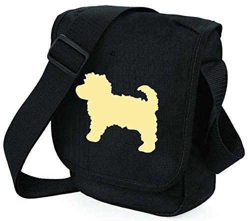 Bag Pixie ,  Unisex Erwachsene Umhängetaschen Cream Dog Black Bag