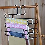 Dipamkar® 3er-Set Multifunktions Platzsparend Metal Hosenaufhänger - für 5 Hosen Denim-Jeans-Schal-Krawatten Kleiderbügel (weiß)