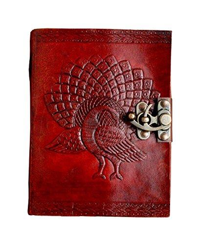 tuzech Leder Schreiben Journal Notebook, Notizbuch nachfüllbar Tagebuch Skizzenbuch Geschenke mit unlinierten Travel Zeitschriften zu schreiben (Leder-finish Distressed Braun)