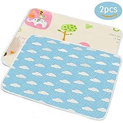 DAMIGRAM Almohadilla De Cuna Impermeable para Bebé, Protector de Colchón Reutilizable e Impermeable Colchón Pañales Cambiador Pad Para Niños Adultos (50 * 70cm)