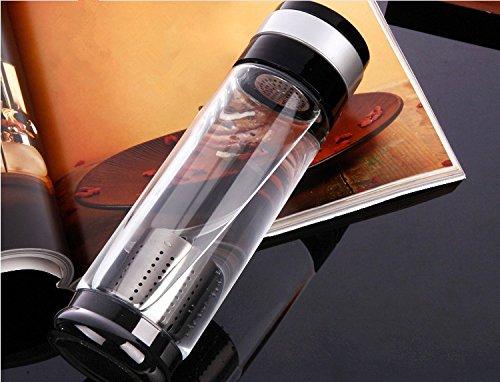 OBOR Botella de Agua Cristal, botella de agua de vidrio de borosilicat