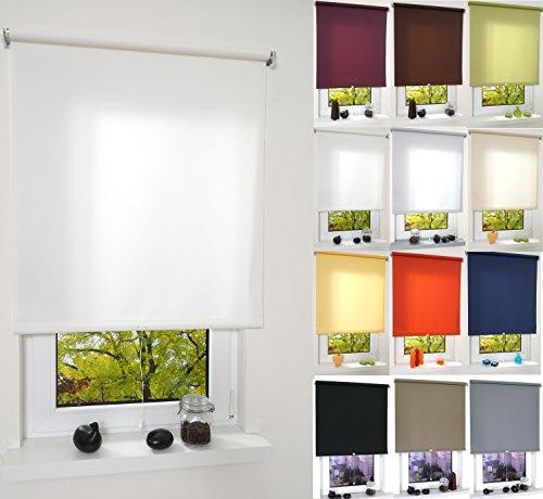 Garduna PULL Tageslicht-Rollo # blattgrün 142cm # viele Farben & Größen - Sichtschutz - lichtdurchlässig - Mittelzugrollo Springrollo Schnapprollo