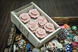 "Casa Decor Set of 6 Symbol of ""LOVE"" Pink Rose Design Handmade Drawer Pull Cabinet Ceramic Knobs"