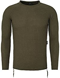 Carsima Men Knitted Jumper KUMARA Basic monochrome with closure an den Seiten