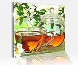 Acrylglasbild 50x50cm Tee Tasse Blumen Cafe Coffee Acryl Druck Acrylbild Bilder Acrylglas Acrylglasbilder 14A7864, Acrylglas Größe3:50cmx50cm