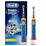 Oral-B Stages Power Kids Elektrische Kinderzahnbürste, im Disney Mickey Mouse Design -