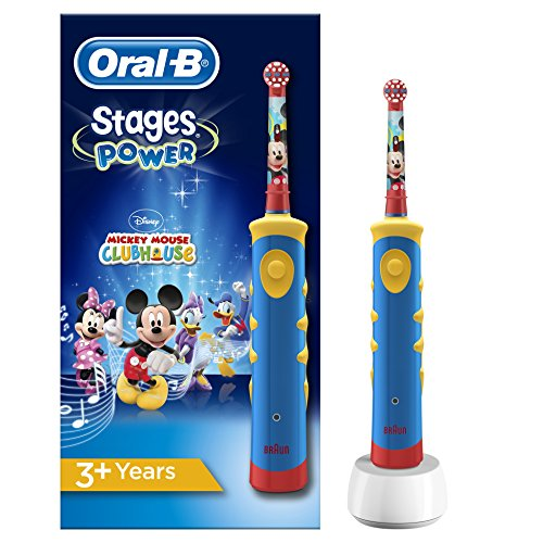 Oral-B Stages Power Kids Elektrische Kinderzahnbürste, im Disney Mickey Mouse Design