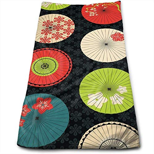 Watercolor Umbrellas Super Soft, Machine Washable and Highly Absorbent,Towel(Wash Clothes, Face...