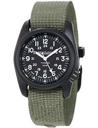 Bertucci Hombre 12028–A-2t Vintage durable Titanio Campo reloj