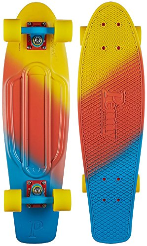 Penny Skateboard Cruiser, Komplett, 27 Zoll 68,6 cm bunt - Canary Yellow Red Blue -