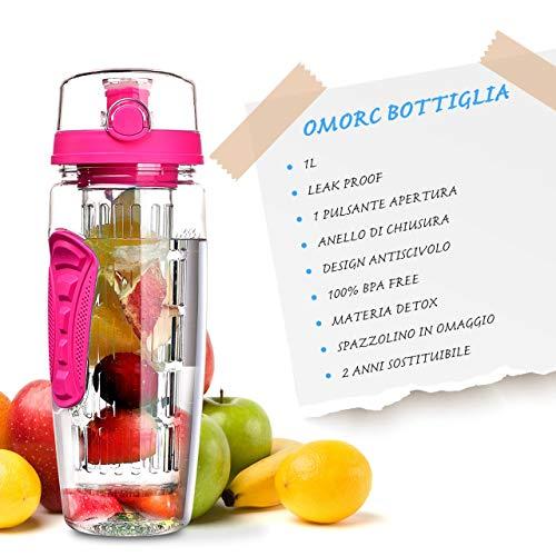 Zoom IMG-1 omorc bottiglia acqua detox 1