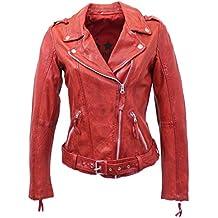 in stock 208f2 bc76b Suchergebnis auf Amazon.de für: Rote Lederjacke Damen