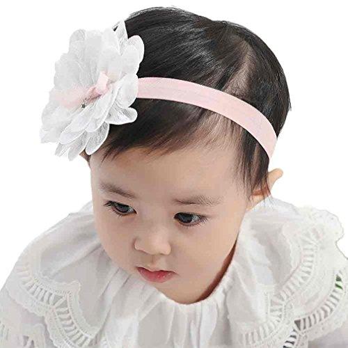 Stirnbänder Transer® Baby Mädchen Stirnband Halten Kopf Tuch Blume Sterne Haarband Babyschmuck Babygeschenke & Taufe Größe: 0 Monate bis 3 Jahre alt Baby (weiß)