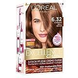 L'Oréal Paris Excellence 6.32 Sonniges Hellbraun, 3er Pack (3 x 1 Stück)