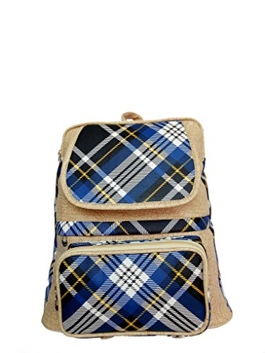 Jovial leather looking stylish biege with multicolor girl college backpack(JBP042(ii))  available at amazon for Rs.295