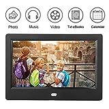 Cornice per foto digitale, schermo LED HD da 7'Cornice per foto digitale Sveglia MP3 / 4 Movie Player, cornice per foto 7'(#1)