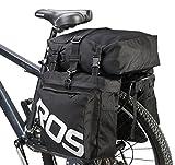 DCCN Gepäckträgertasche Fahrradtasche 37 L Satteltasche 3 in 1 Packtasche mit Regenhülle