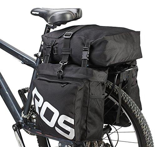 DCCN Alforja para Bicicleta Trasera Bicicleta Trasera para Bicicleta de Equipaje Grandes Rack Impermeable Asiento Trasero Bolsa de Transporte Verde Militar 37L