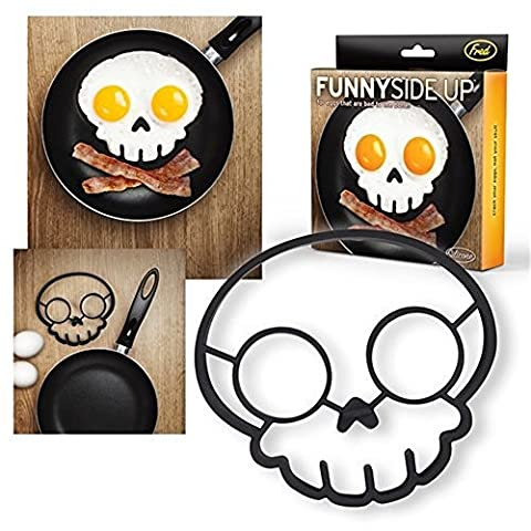 SMCTCRED 1PCS Skull Egg Shaper Silicone Omelette Mold Cooking Tools Kitchen Gadgets