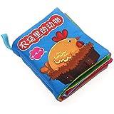 Baby Soft Cloth Book Intelligence Development Cloth Book Toys (Farm Animals)