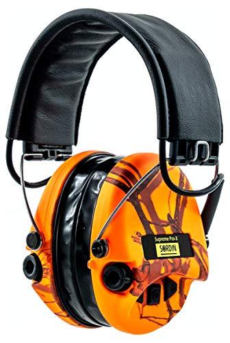 Sordin Supreme PRO X LED - Aktiver Gehörschutz mit Leuchte SOR75302-X-09 Elektronischer Gehörschützer MossyOak-Camo Orange