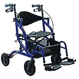 1x OPTI-ROLLY, 2 in 1, Rollator und Transportstuhl, Rollstuhl, Gehhilfe, faltbar
